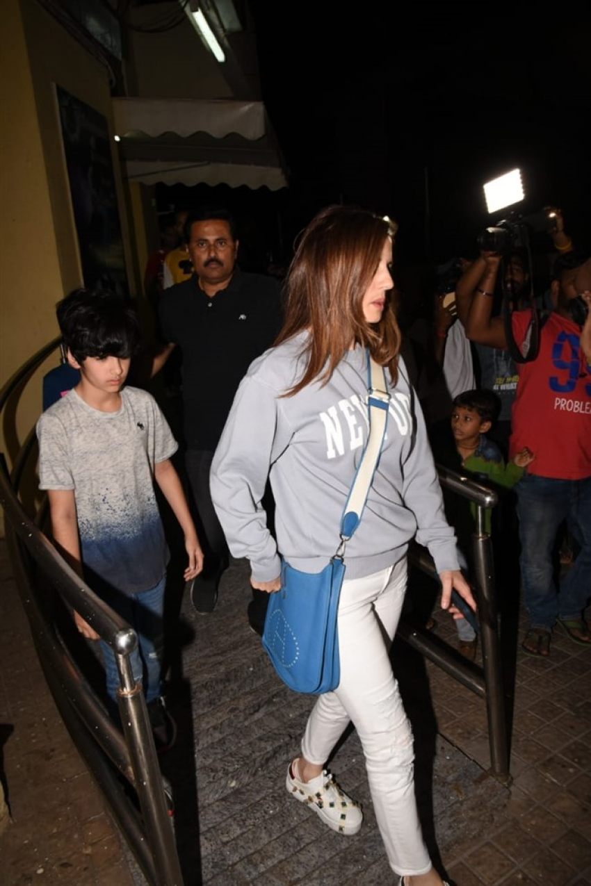 Hrithik Roshan & Sussanne Khan with their kids Spotted at Juhu PVR Photos
