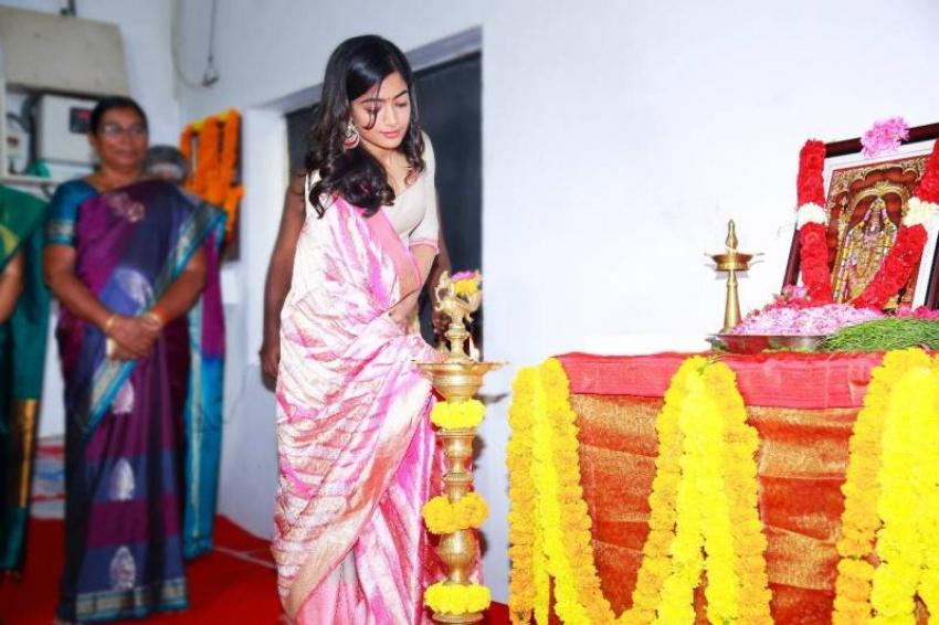 Karthi And Rashmika Mandanna New Movie Pooja Photos