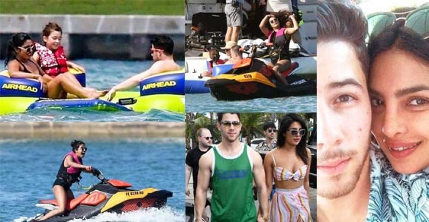 Priyanka Chopra & Nick Jones Romantic Beach Vacation Photos