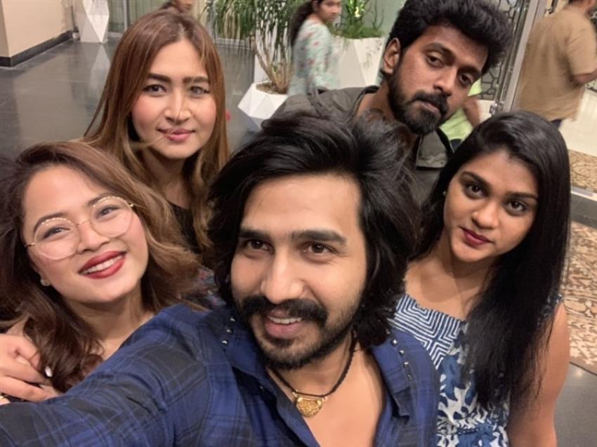 Tamil actor Vishal And Anisha Reddy Engagement Photos