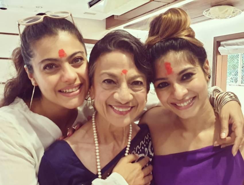 Actress Kajol Family Photos