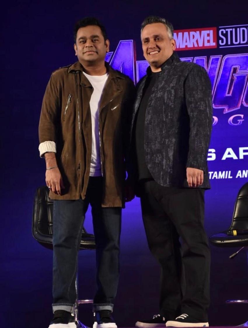 AR Rahman & Director Of Marvel Joe Russo At The Launch Marvel Anthem Photos