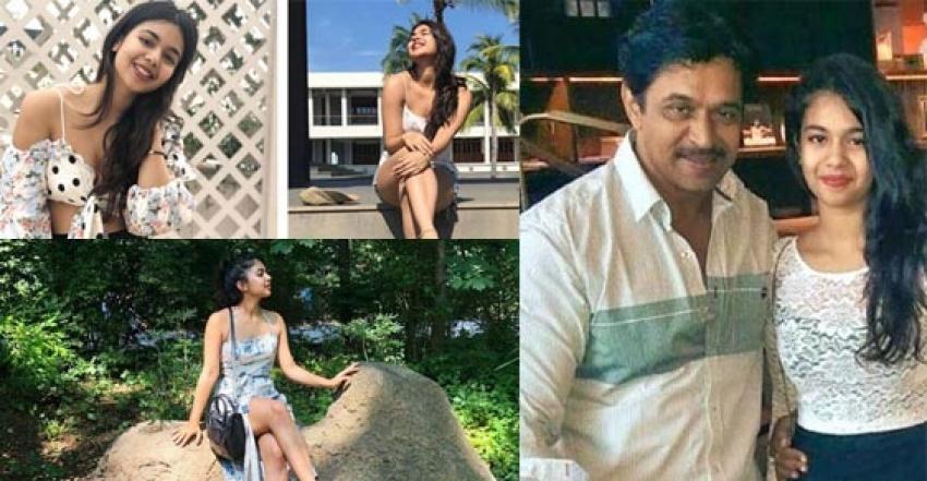 Arjun Sarja Second Daughter Anjana Unseen Photos