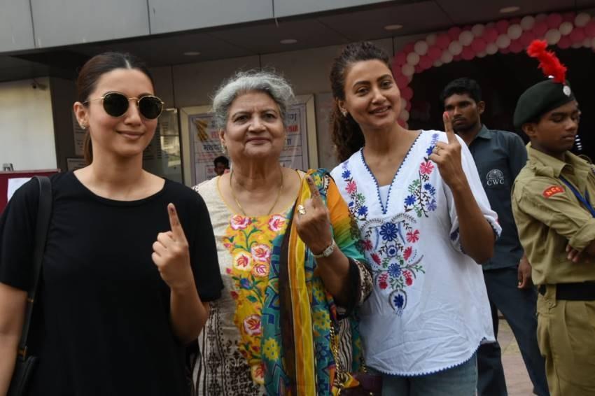 Celebs Vote For Lok Sabha Election 2019 Photos