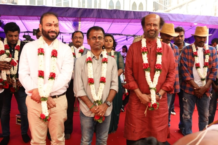 Darbar Movie Pooja Stills Photos