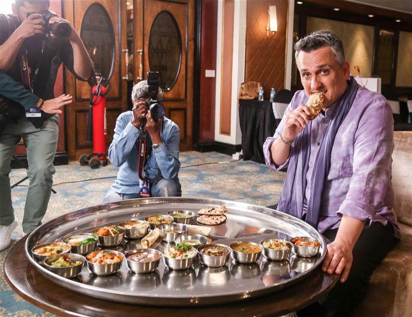 Director Of Marvel Joe Russo enjoys an Indian Food Thali In Mumbai Photos