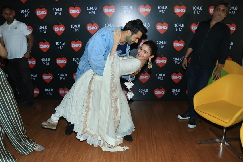 Kalank Movie Promotion At Ishq 104.8 FM In Mumbai Photos