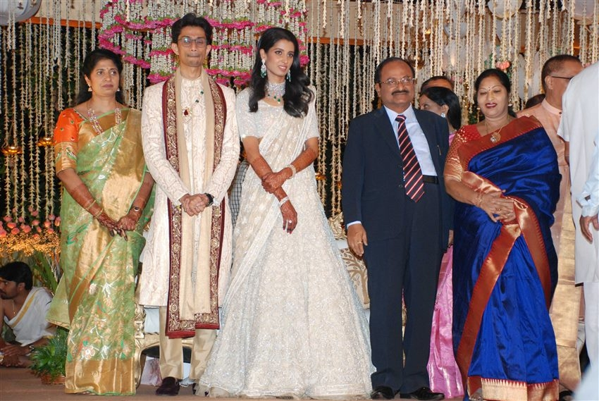 Laharivelu Daughter Varsha And Charan Wedding Reception Photos