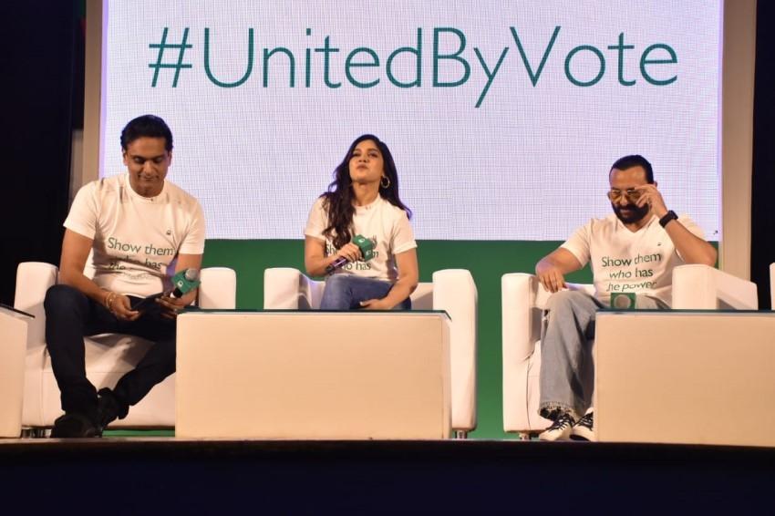 Saif Ali Khan, Bhumi Pednekar & Siddhant Chaturvedi For #unitedbyvote Panel Discussion Photos
