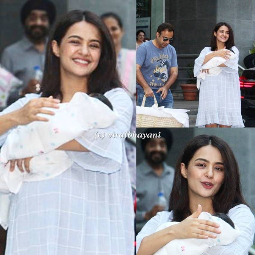 Surveen Chawla Shares Glimpse For Her New Born Girl Baby Photos