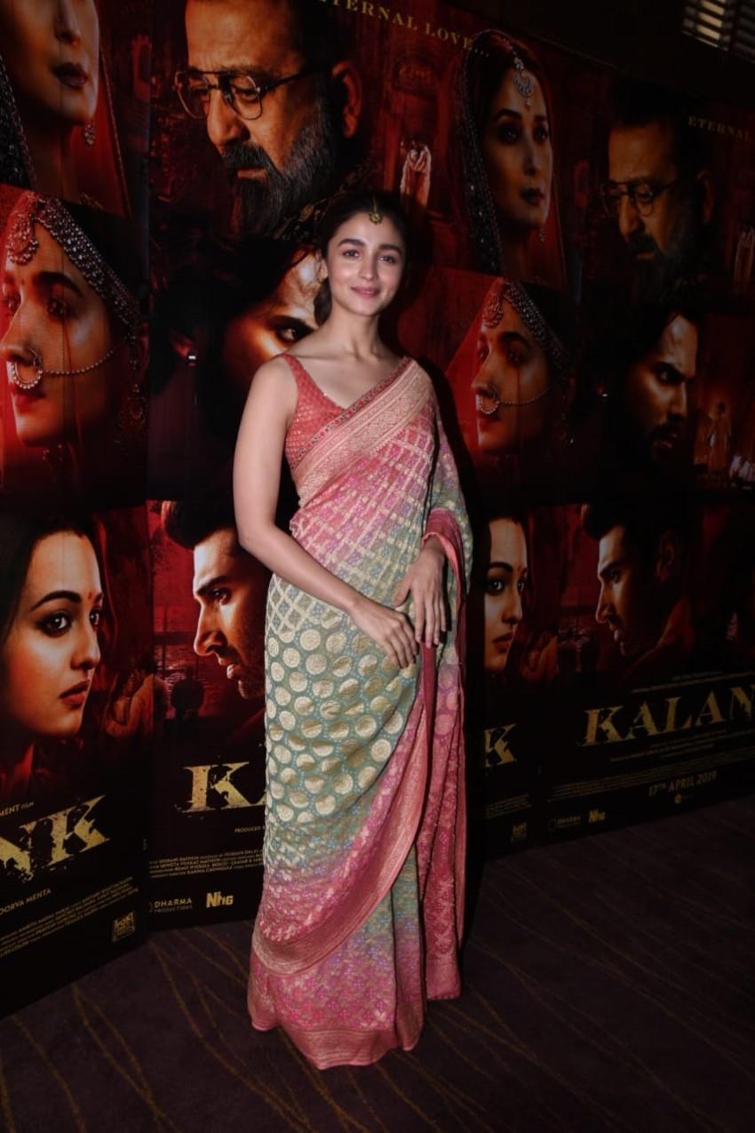 Varun Dhawan & Alia Bhatt Snapped During Promotions Of Kalank Photos