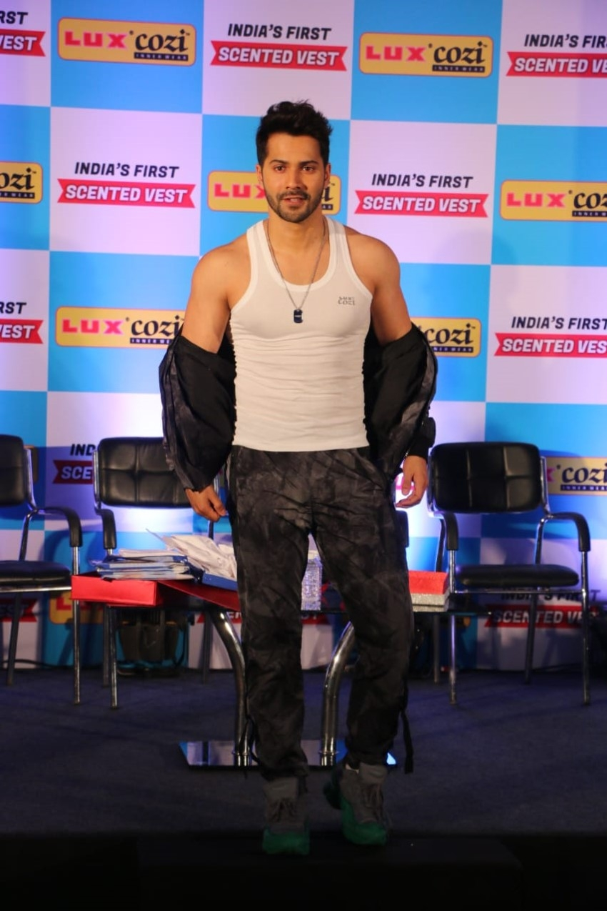 Varun Dhawan At Launch Of Luxcozi New Collection Photos