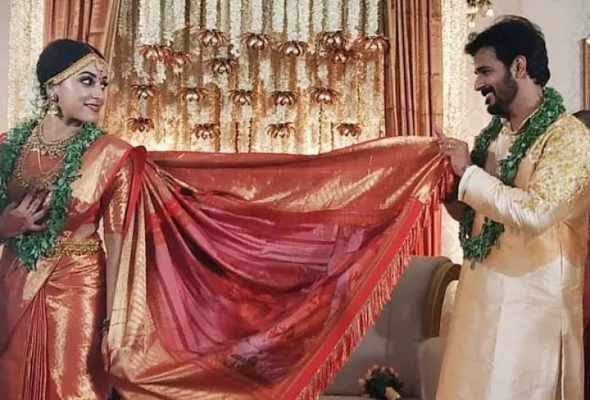 Pearle Maaney Got Married to her Bigg Boss Co-Contestant Srinish Aravind Photos