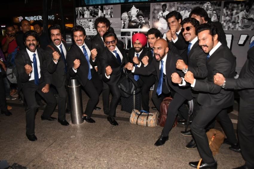Ranveer Singh, Saqib Saleem & other actors leave for London to shoot '83' Photos