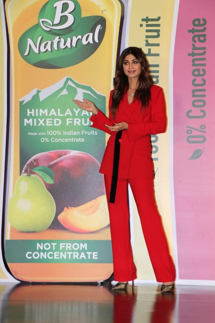 Shilpa Shetty Launches the B Natural Juice at Taj Lands in Mumbai Photos