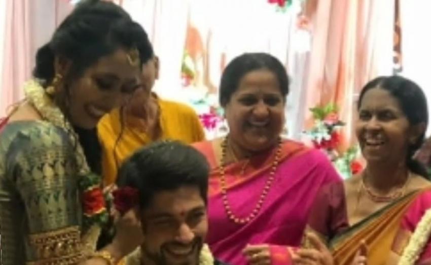 Sihi Kahi Chandru Daughter Hitha Daughter Engagement Photos