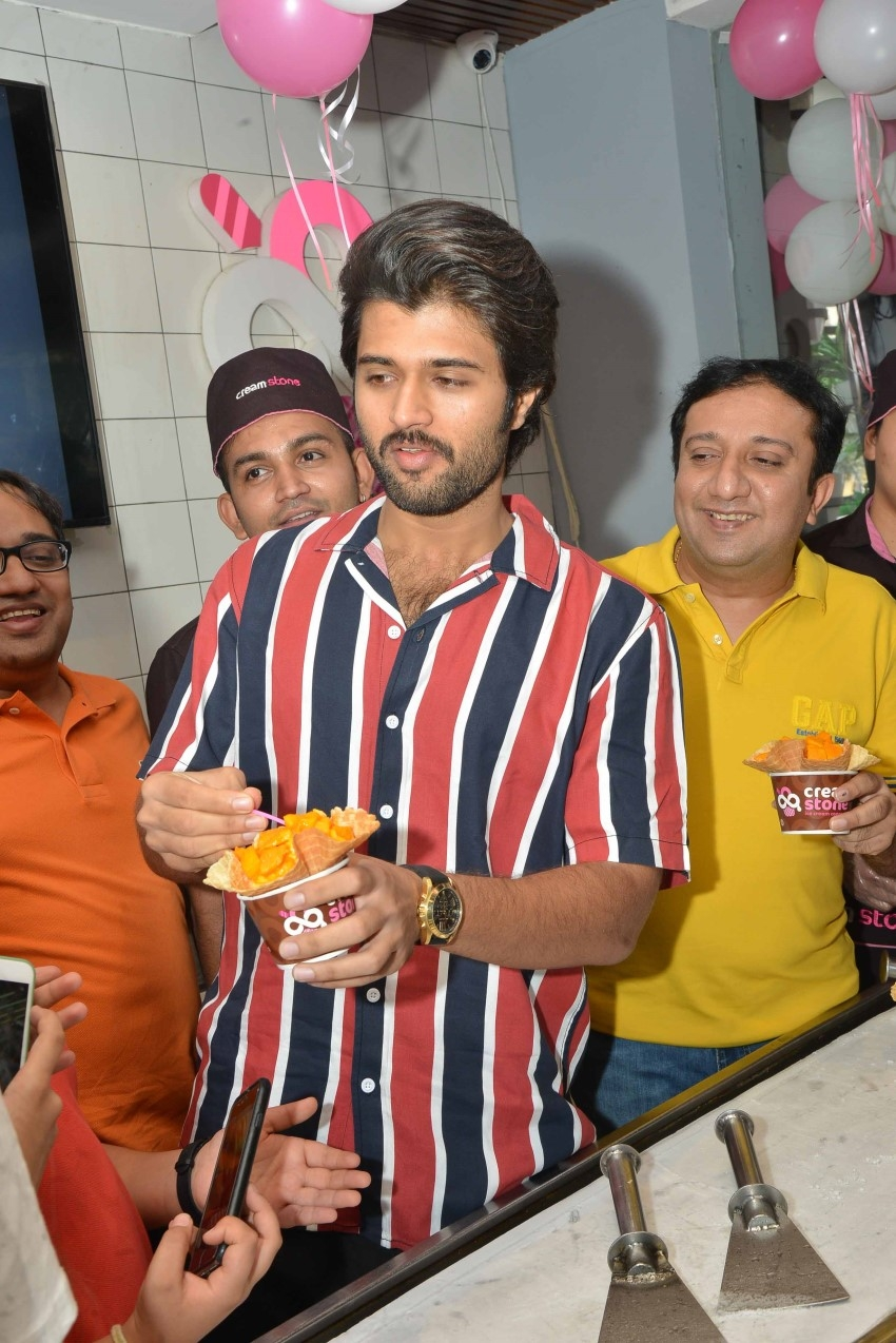 Vijay Devrakonda Distributes 9 - Trucks of Creamstone To His Fans On His Birthday Photos