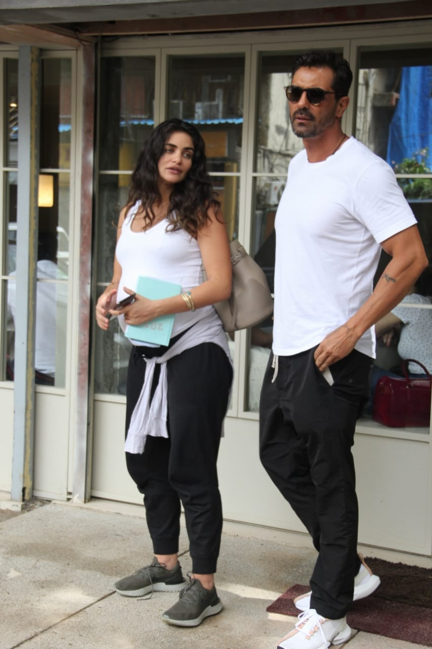 Arjun Rampal and Gabriella Demetriades spotted at Sequel, Mumbai Photos