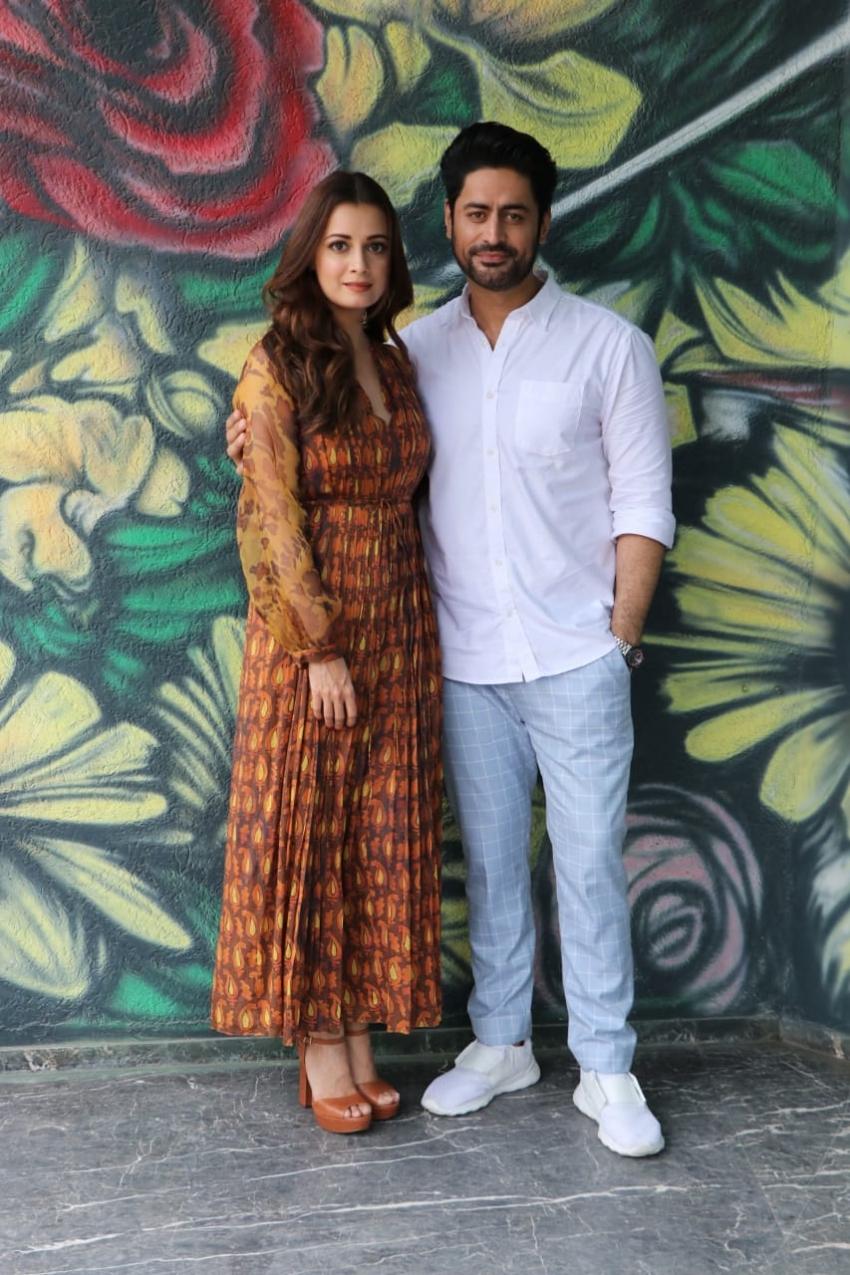 Dia Mirza and Mohit Raina snapped promoting their web series 'Kaafir' Photos