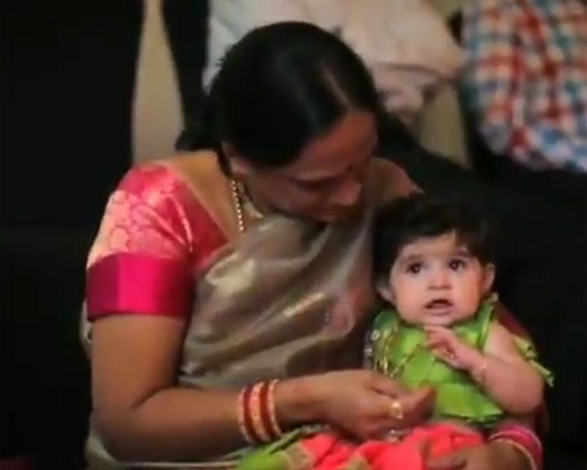 Radhika Pandit And Yash daughter Ayra Baby Naming Ceremony Photos