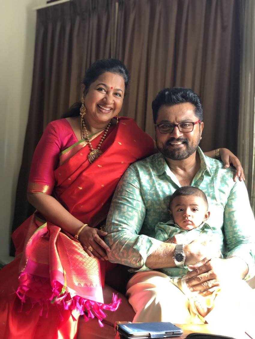 Radhika Sarathkumar's Daughter Rayane Mithun's Son Tarak Photos