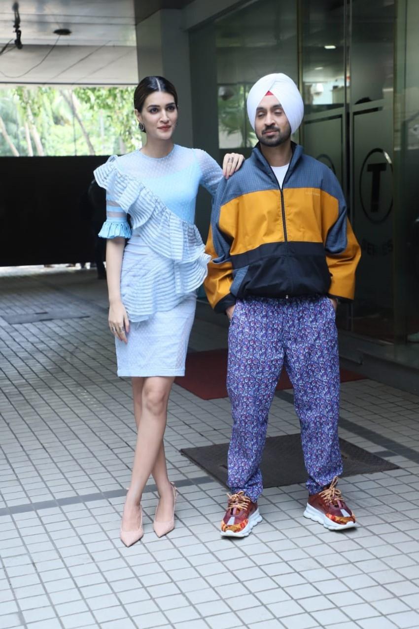 Kriti Sanon and Diljit Dosanjh snapped during 'Arjun Patiala' promotions Photos