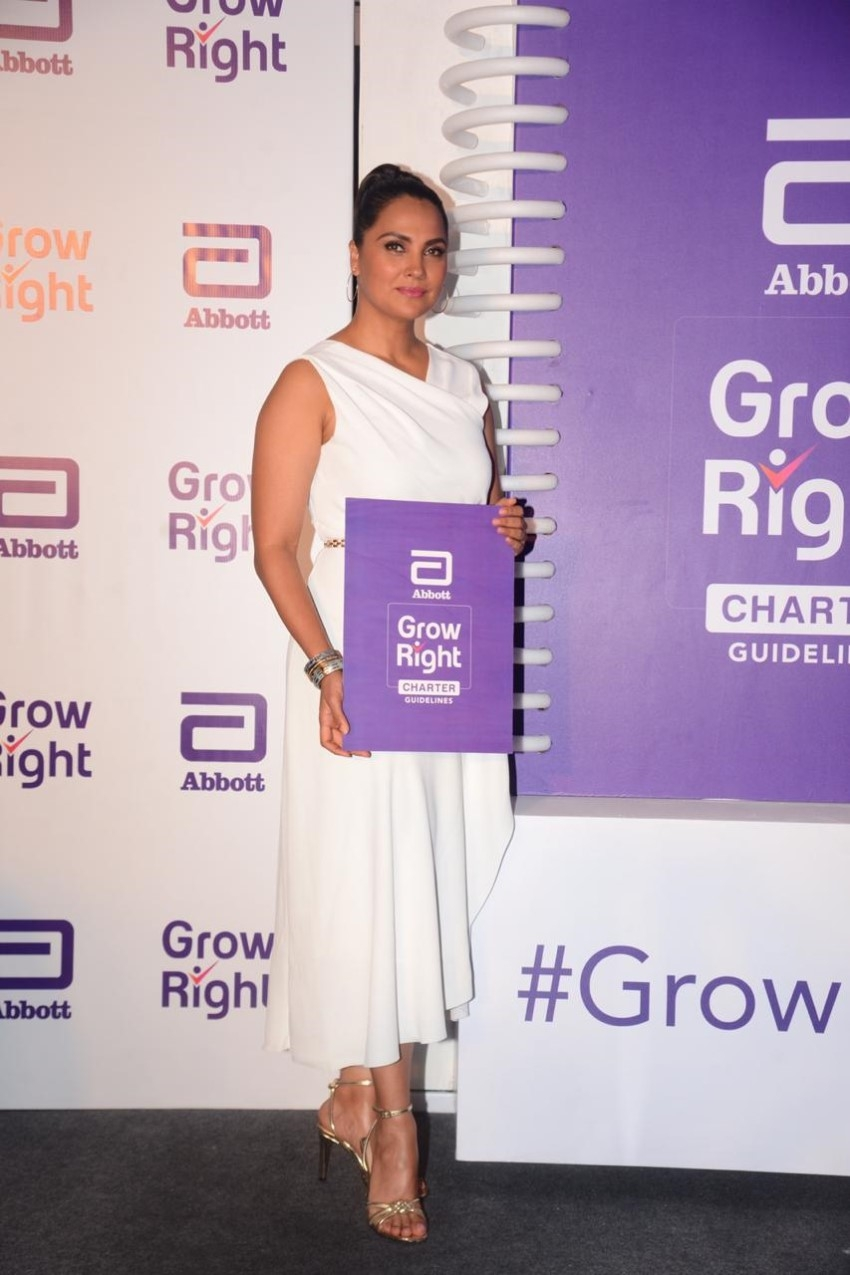 Lara Dutta at the launch of Abbott Nutrition's Grow Right Charter Photos
