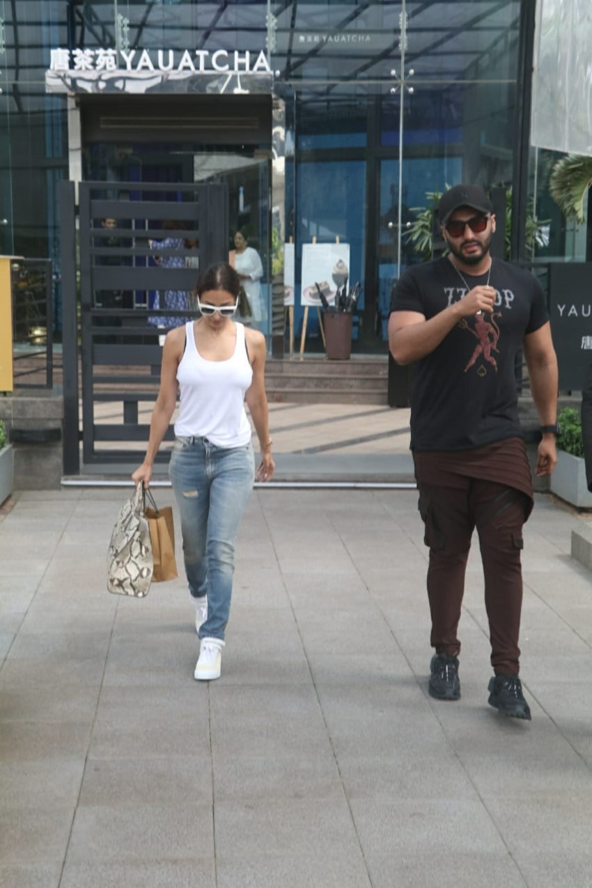 Malaika Arora and Arjun Kapoor spotted at Nara Thai, BKC Photos
