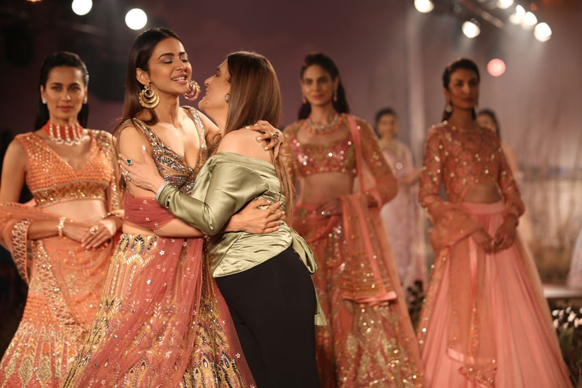 Rakul Preet Singh walks the ramp for Reynu Tandon at India Couture Week 2019 Photos