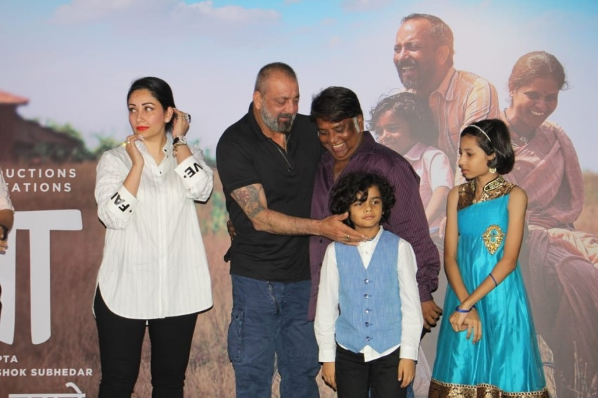 Sanjay Dutt & Manyata Dutt At Trailer Launch Of His Marathi Film 'BABA' Photos