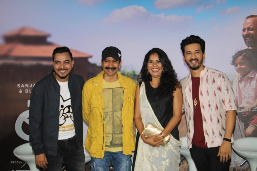 Sanjay Dutt & Manyata Dutt At Trailer Launch Of His Marathi Film 'BABA' Photos