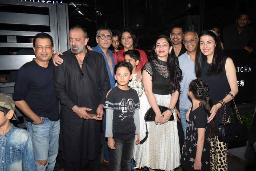 Sanjay Dutt snapped with family at Yauatcha Restaurant in Bandra Photos