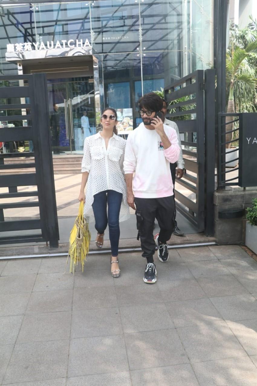 Shahid Kapoor and Mira Rajput spotted at Yauatcha in BKC, Mumbai Photos