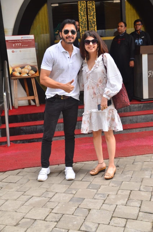 Shreyas Talpade & Deepti Talpade snapped post lunch Photos