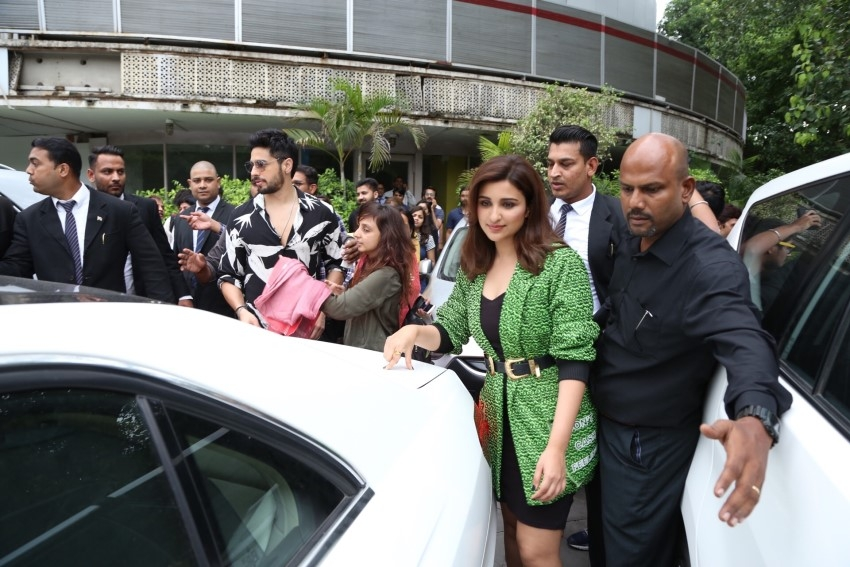 Sidharth Malhotra and Parineeti Chopra promote their film 'Jabariya Jodi' in New Delhi Photos