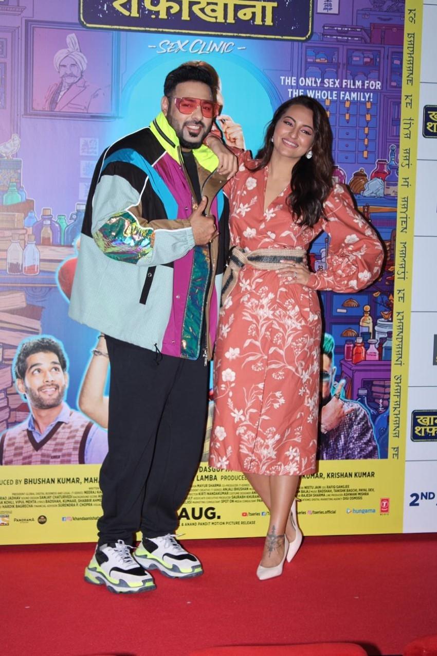 Sonakshi Sinha & Badshah at the launch of a song from their film 'Khandaani Shafakhana' Photos
