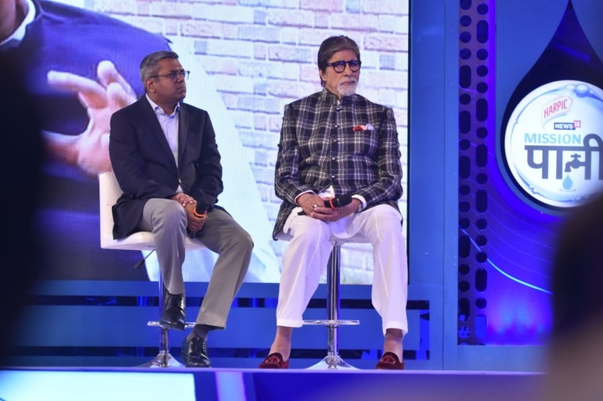 Amitabh Bachchan At Mission Paani Campaign Photos
