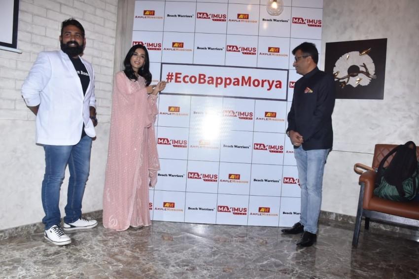 Amrita Rao at the launch of initiative of #EcoBappaMorya Photos