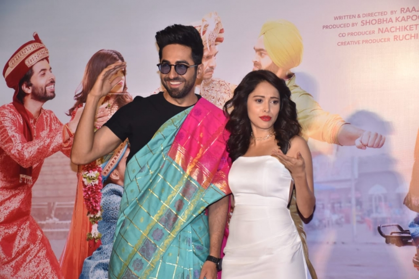 Ayushmann Khurrana &  Nushrat Bharucha Dream Girl Trailer Launch Photos