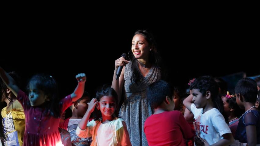 California Based Pop Singer Hitha 14 Years Girl Performs In Chennai Photos