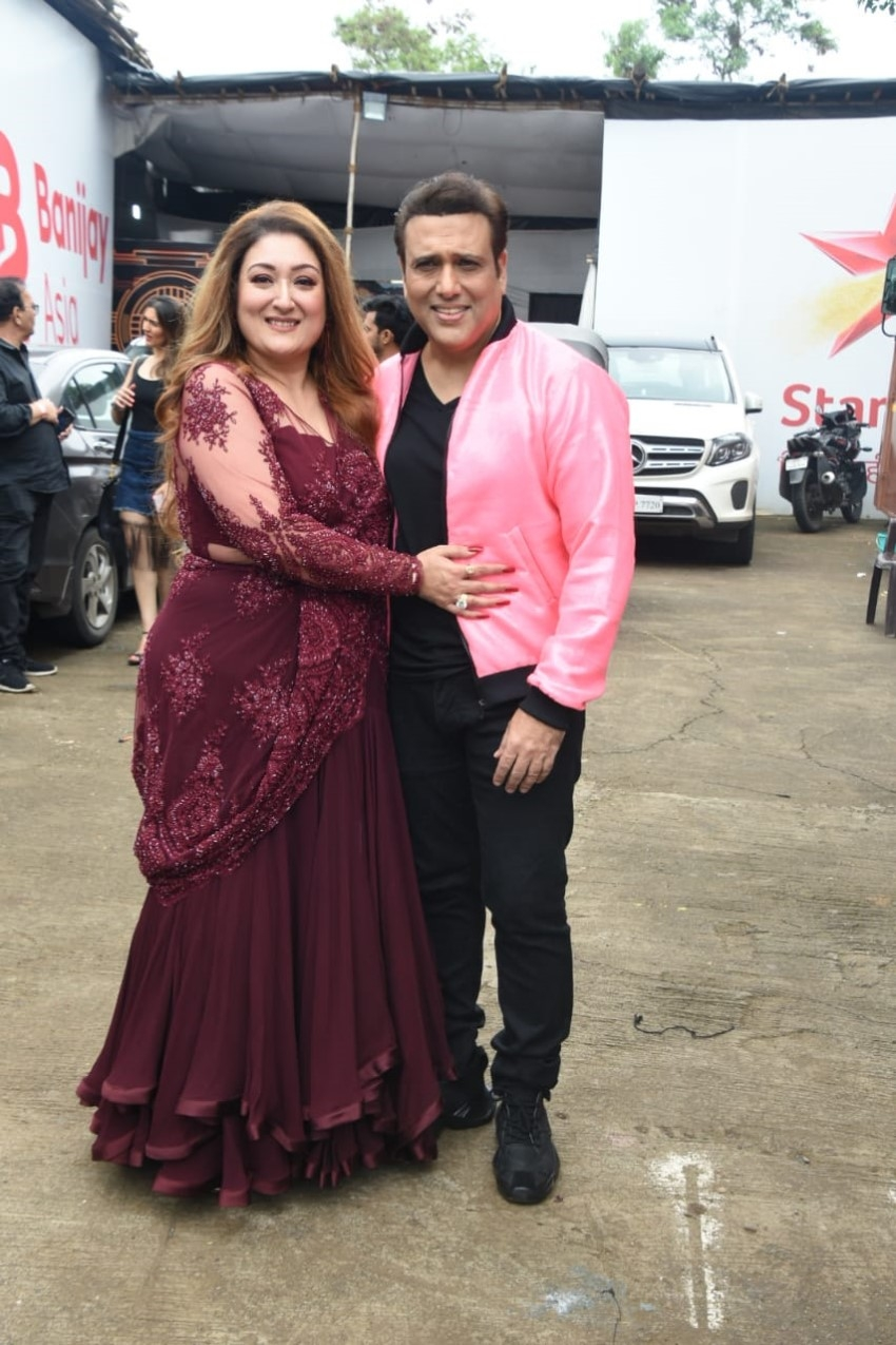 Govinda, Sunita Ahuja & Raveena Tandon snapped on the sets of Nach Baliye Photos