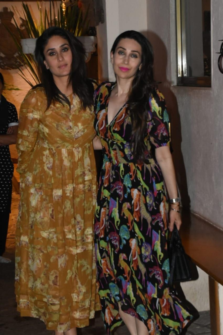 Kareena Kapoor & Karisma Kapoor Snapped At Sonam Kapoor House in Juhu Photos