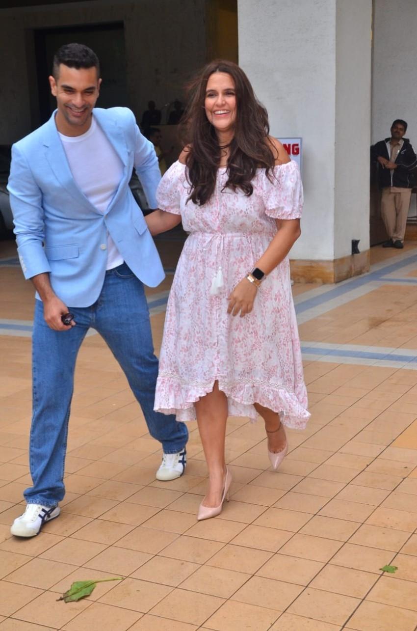 Neha Dhupia & Angad Bedi spotted at Hotel Sea Princess in Juhu Photos