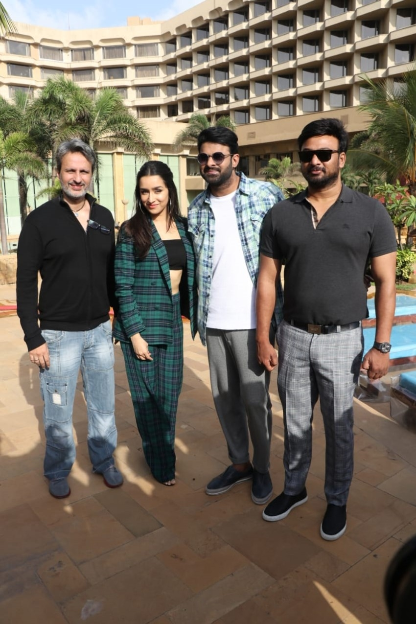Shraddha Kapoor & Prabhas snapped promoting Saaho at JW Marriott Photos