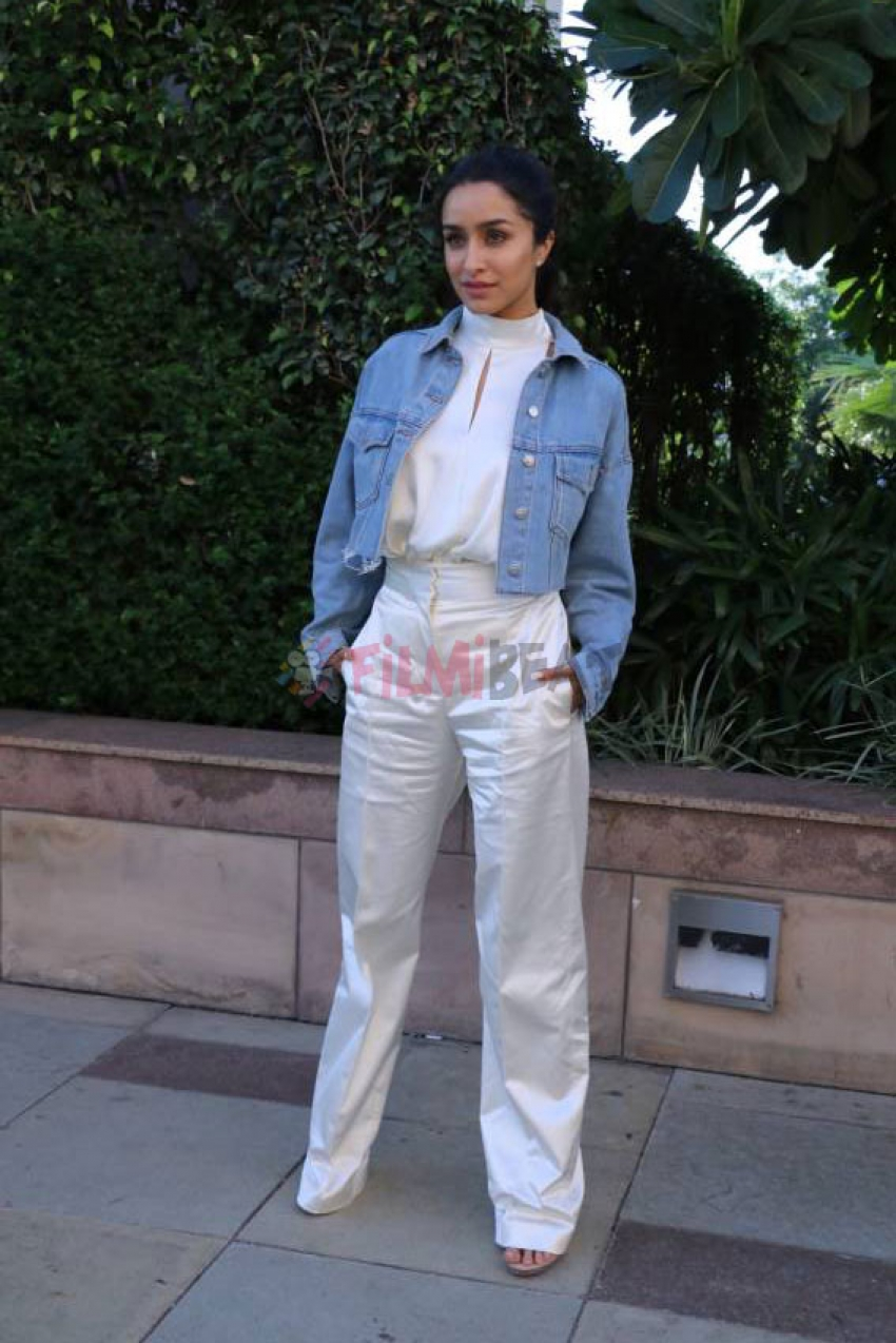 Shraddha Kapoor and Prabhas During Promotion of saaho,In Chandigarh Photos
