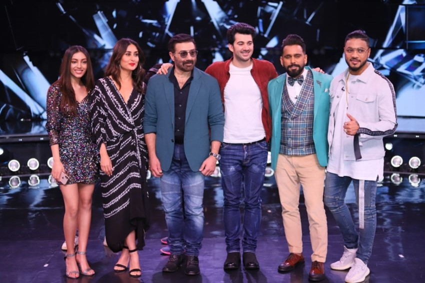 Sunny Deol & Karan Deol snapped on the sets of Dance India Dance Photos