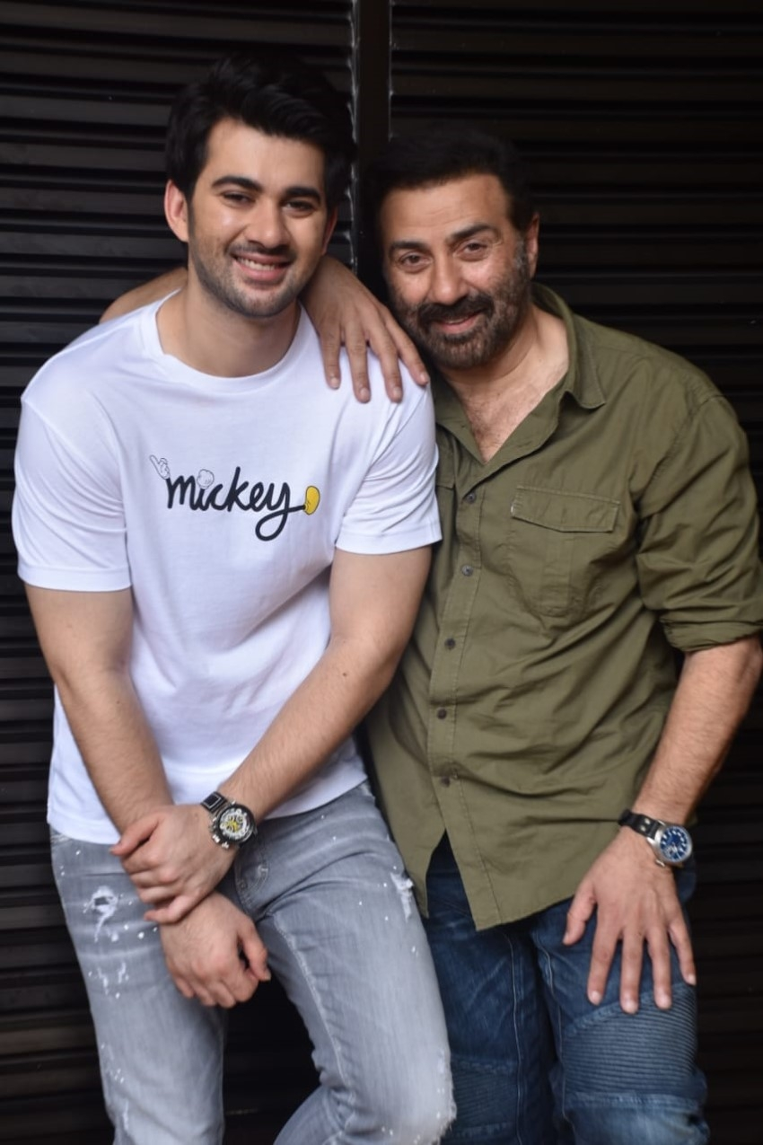 Sunny Deol, Karan Deol and Saher Bamba at 'Pal Pal Dil Ke Paas' promotions Photos