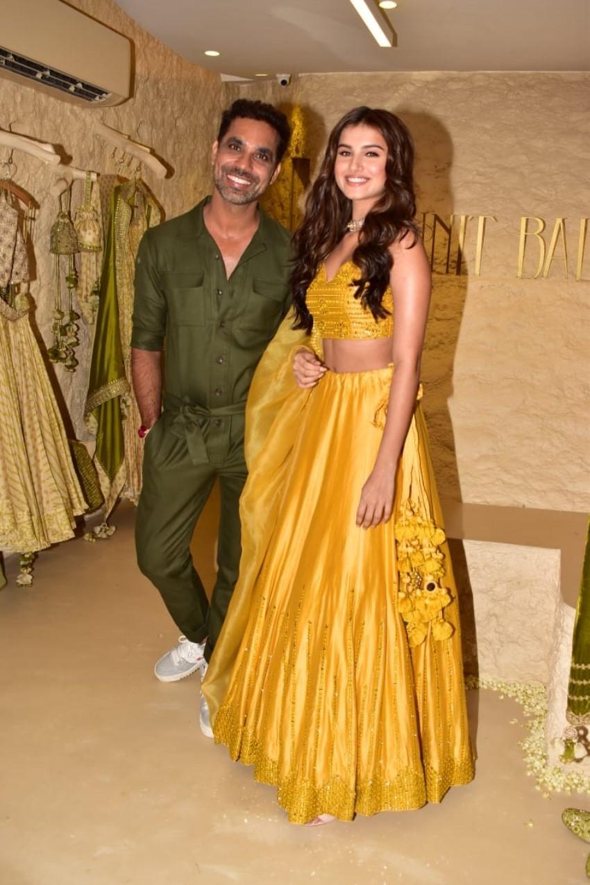 Tara Sutaria at the store launch of Punit Balana Photos