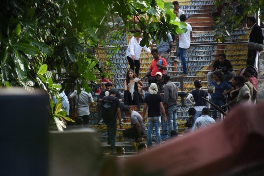 Alia Bhatt and Aditya Roy Kapoor spotteed shooting Sadak 2 in Mumbai Photos