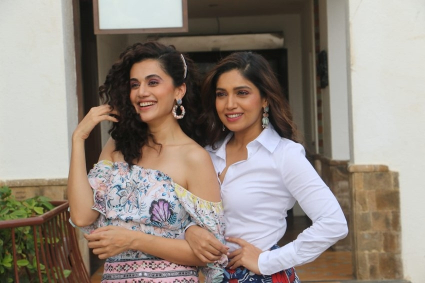 Bhumi Pednekar & Taapsee Pannu at a photoshoot to promote Saand Ki Aankh in Mumbai Photos